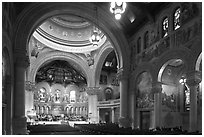 Inside Memorial Church. Stanford University, California, USA ( black and white)