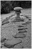 Zen garden, Hakone Estate. Saragota,  California, USA ( black and white)