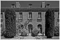 Filoli House. Woodside,  California, USA (black and white)