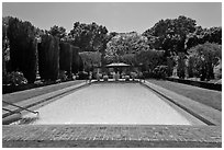 Swimming pool, Filoli estate. Woodside,  California, USA (black and white)