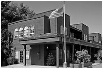 Post Office. Woodside,  California, USA ( black and white)