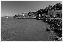 Waterfront, Sausalito. California, USA ( black and white)