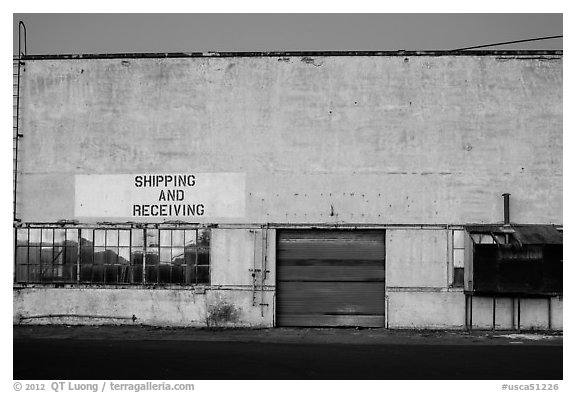 Paint Shop, Shipyard No 3, World War II Home Front National Historical Park. Richmond, California, USA (black and white)