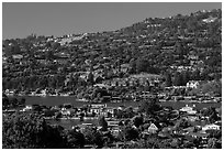 Belvedere Lagoon, Tiburon. California, USA (black and white)