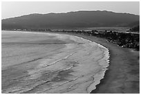 Bolinas Bay, Stinson Beach, Bolinas Lagoon. California, USA (black and white)