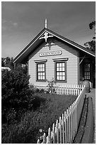 Historic building, Ardenwood farm, Fremont. California, USA ( black and white)