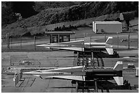 Nike missiles. California, USA (black and white)