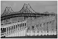 Richmond Bridge. San Pablo Bay, California, USA ( black and white)