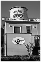 Historic fruit stand, Sunnyvale. California, USA ( black and white)