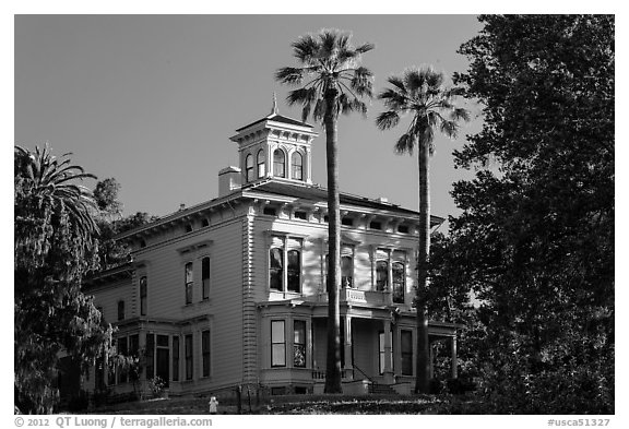 Muir Home, John Muir National Historic Site. Martinez, California, USA (black and white)