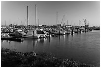 Harbor, Vallejo. San Pablo Bay, California, USA ( black and white)