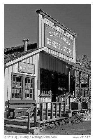 Roaring Camp general store, Felton. California, USA (black and white)
