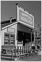 Roaring Camp general store, Felton. California, USA ( black and white)