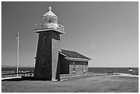 Mark Abbott Memorial Lighthouse. Santa Cruz, California, USA (black and white)