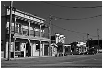 Storefronts, Moss Landing. California, USA ( black and white)