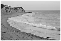 Waddel Creek Beach at sunset. California, USA (black and white)