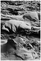 Eroded rock, Bean Hollow State Beach. San Mateo County, California, USA (black and white)
