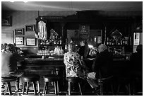 Bar, Duarte Tavern, Pescadero. San Mateo County, California, USA (black and white)