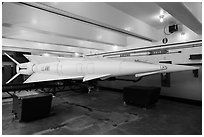 Underground storage area, Nike missile site. California, USA (black and white)