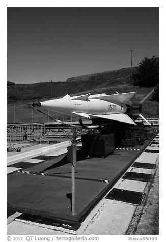 Nike missile firing battery. California, USA (black and white)