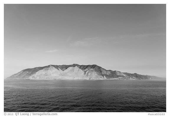 Santa Catalina Island at sunrise. California, USA (black and white)