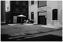 New York backlot, Paramount Pictures Studios. Hollywood, Los Angeles, California, USA (black and white)