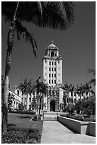 City Hall. Beverly Hills, Los Angeles, California, USA ( black and white)