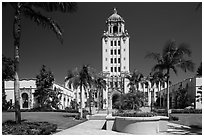 Berverly Hills City Hall. Beverly Hills, Los Angeles, California, USA ( black and white)