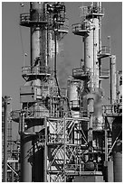 Process unit, refinery, Manhattan Beach. Los Angeles, California, USA ( black and white)
