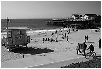 Redondo Beach pier, Redondo Beach. Los Angeles, California, USA ( black and white)