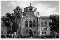 Powell Library, University of California at Los Angeles, Westwood. Los Angeles, California, USA ( black and white)