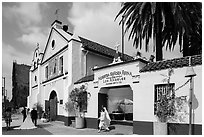 Wedding at Mission Nuestra Senora Reina de Los Angeles. Los Angeles, California, USA ( black and white)
