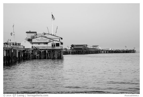 Stearns Wharff. Santa Barbara, California, USA (black and white)