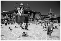 Waterpark and slides, Legoland, Carlsbad. California, USA ( black and white)