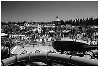 Legoland Waterpark from the top, Carlsbad. California, USA ( black and white)