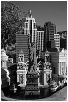 Las Vegas New York New York scale model, Legoland, Carlsbad. California, USA ( black and white)