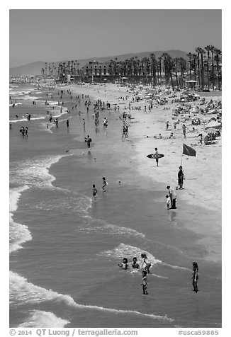 Beach, Oceanside. California, USA (black and white)