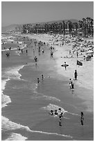 Beach, Oceanside. California, USA ( black and white)