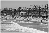Oceanside beachfront. California, USA ( black and white)