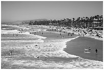 Oceanside beach. California, USA ( black and white)