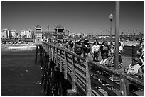Looking from pier, Oceanside. California, USA ( black and white)
