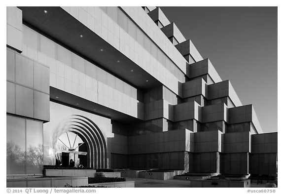 State of California general services building. Sacramento, California, USA (black and white)