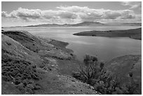 San Luis Reservoir. California, USA ( black and white)