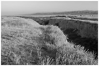 Canyon. Carrizo Plain National Monument, California, USA ( black and white)