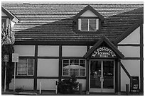 Post office. Solvang, California, USA ( black and white)