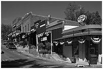 Old town Auburn. California, USA ( black and white)