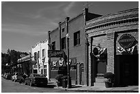 Historic buildings, Auburn. California, USA ( black and white)