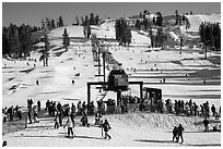 Boreal Mountain ski resort. California, USA ( black and white)