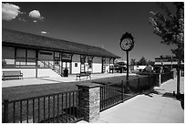 Train station, Tehachapi. California, USA ( black and white)