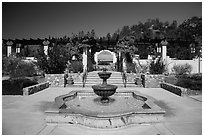 Memorial garden, La Paz, Cesar Chavez National Monument, Keene. California, USA ( black and white)